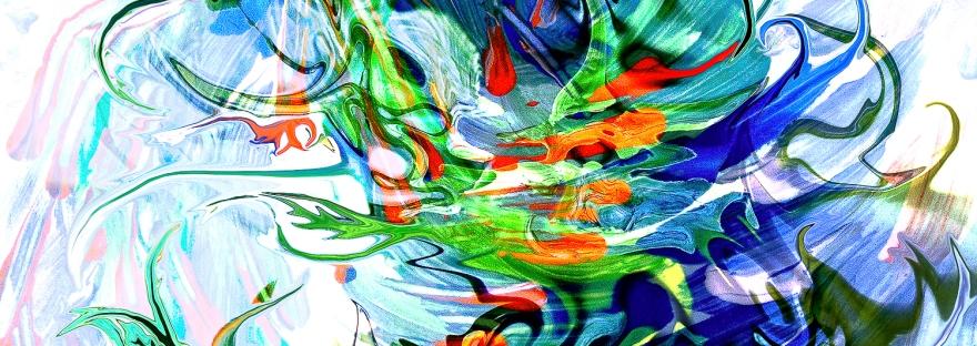 astrazione di forme fluide che sembrano in movimento in immagine astratta con forme fluide e linee