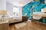 murale adesivo con tema di quadro astratto creato da BBS arte in camera da letto